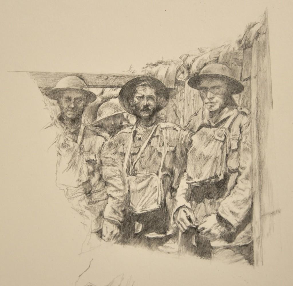 Pencil drawing by Juliet MacDonald, 2015