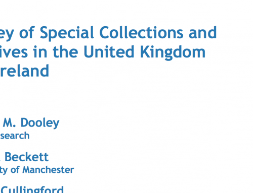 Survey of special collections in the UK and Ireland