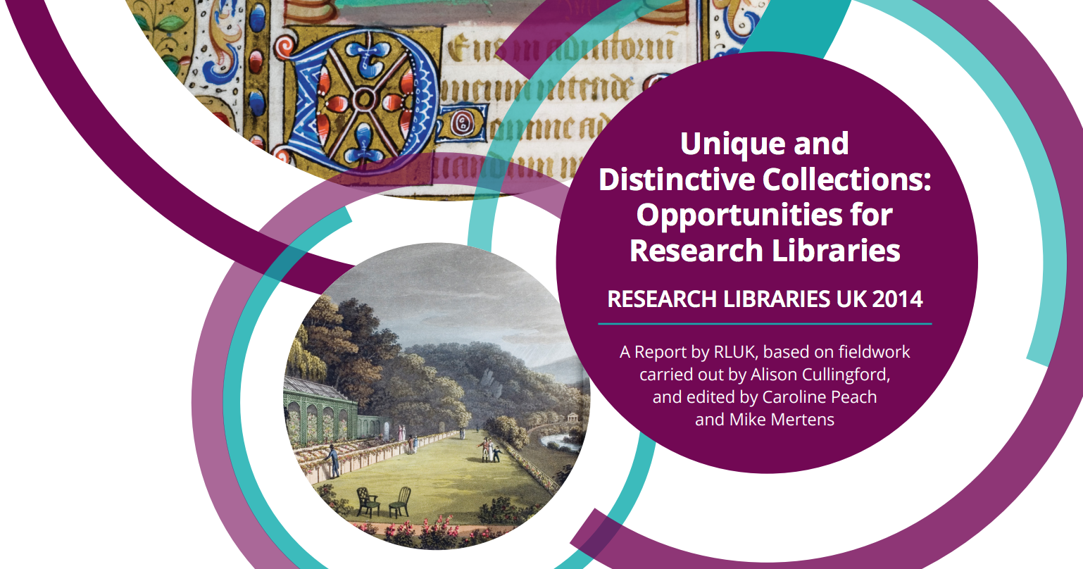 Unique and distinctive collections: opportunities for research libraries
