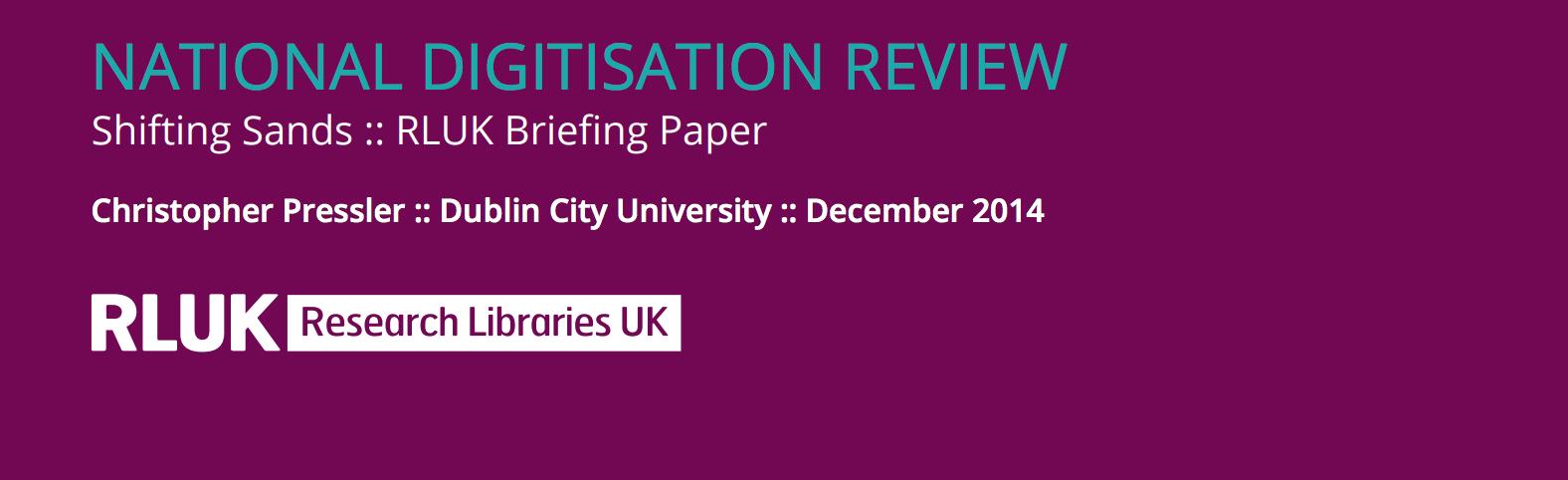 National digitisation review