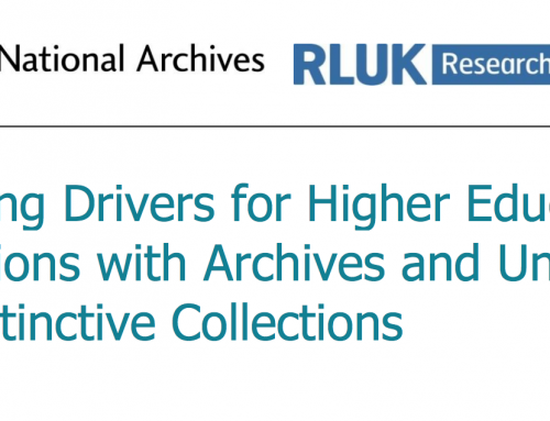 Collecting drivers for higher education institutions with archives and unique and distinctive collections