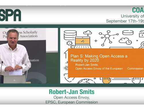 Plan S: Robert-Jan Smits presentation at COASP 2018