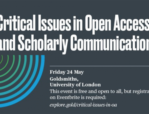 Critical Issues in Open Access and Scholarly Communications event