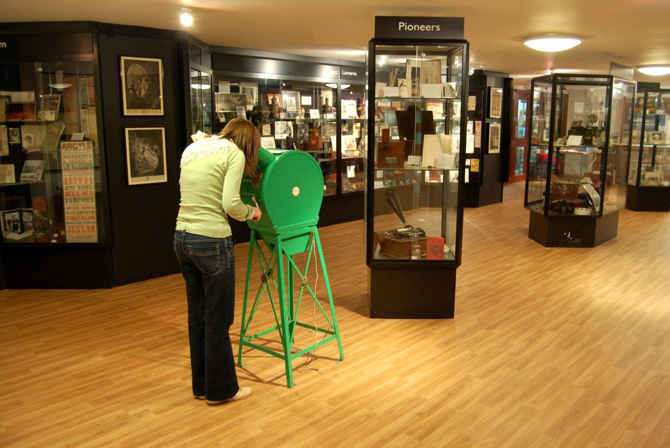 Lower gallery of Bill Douglas Cinema Museum