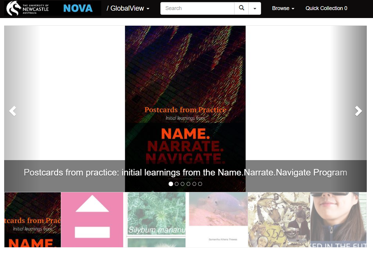 The NOVA open access repository showcases the research outputs of the staff and postgraduate students of the University of Newcastle