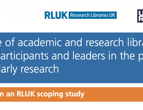 The role of academic and research libraries as active participants and leaders in the production of scholarly research