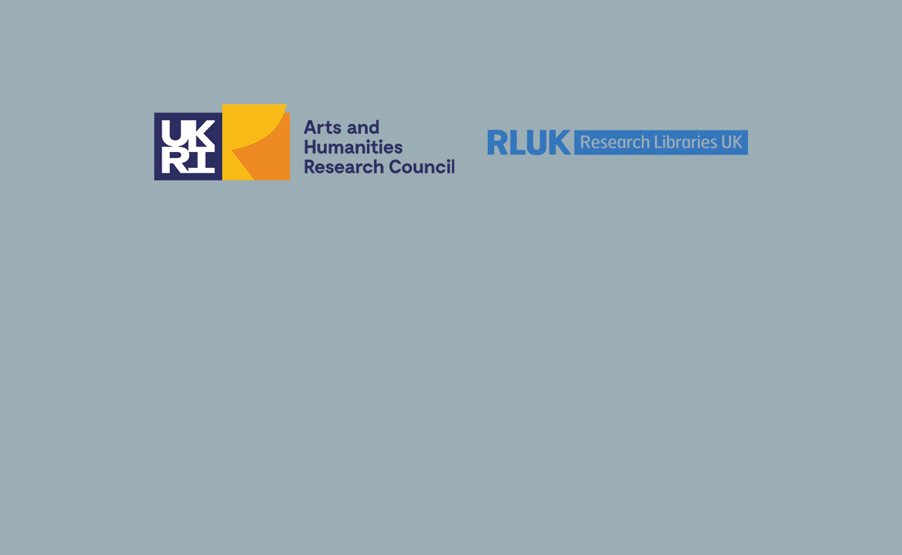 AHRC-RLUK Professional Practice Fellowship Scheme for academic and research libraries